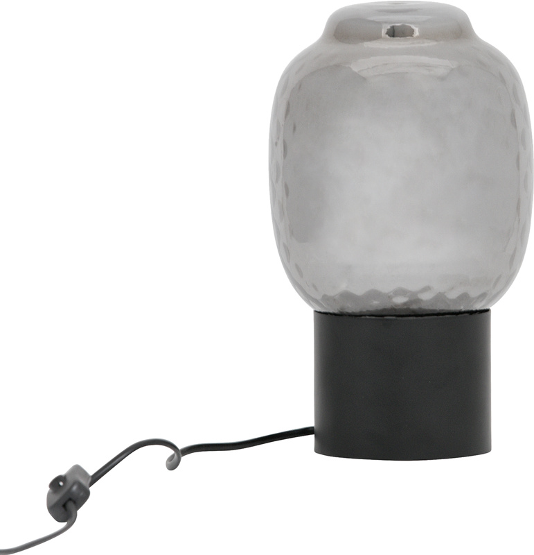 Bubble bordlampe L sort