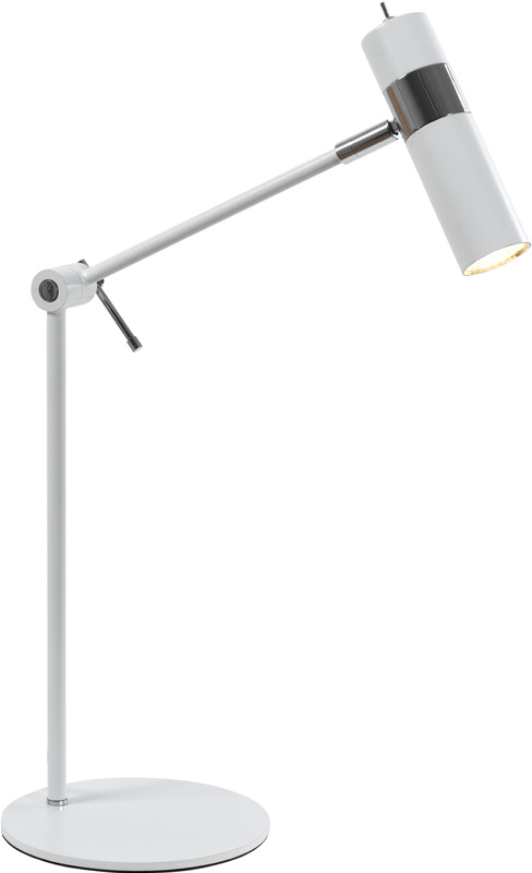 Fokus bordlampe Hvit/krom 1x5W LED