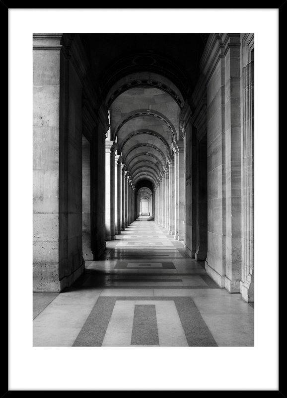 Nobel Architecture 5 50x70 cm poster art, sort ramme
