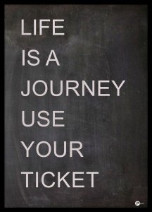 Plakat Life is a Journey